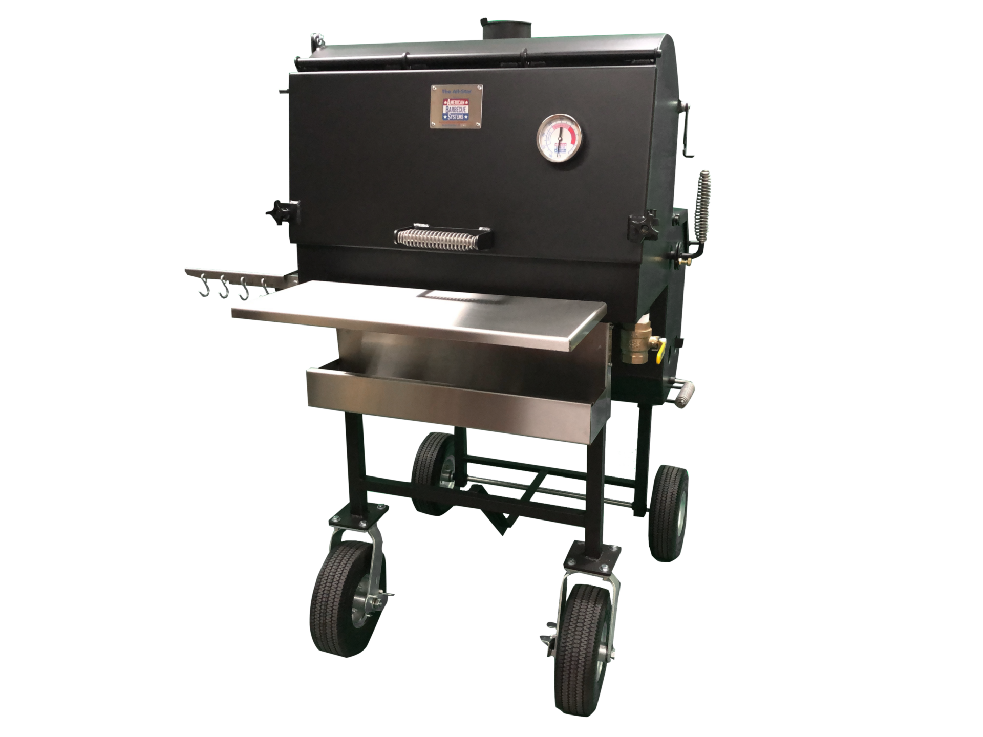The American Barbeque Systems All-Star was designed with the backyard barbecue enthusiast in mind.